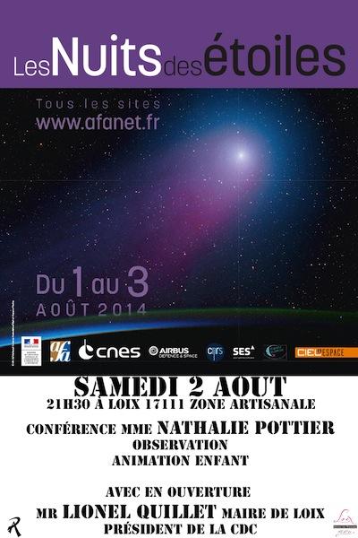 affiche Nuits des etoiles 2014-